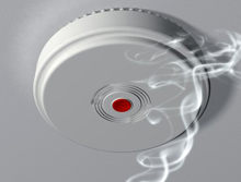 The smoke alarm alerted residents of smoke and fire