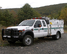 A Type 6 Light Brush Unit model from KME Fire Apparatus. The company was recently awarded three new major contracts after refocusing its wildland product line
