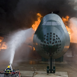 The experience of airport firefighters differs greatly from that of their municipal fire and rescue colleagues
