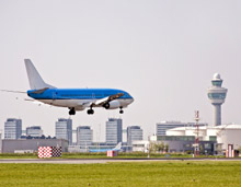 Schiphol airport, Amsterdam. Firefighters at the airport are called upon to deal with numerous incidents in the Schiphol area as well as all aviation-related incidents
