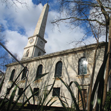 LSO St Luke's 18th-century Hawksmoor church, Islington