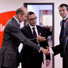 HRH The Duke of Kent being welcomed to Apollo by the Apollo management team