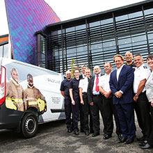 Guests pictured at the handover of the new LFRS vehicle from Ballyclare Ltd