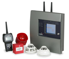 Radio+, Cooper Fulleon's wireless fire detection system, as unveiled at International Firex 2009