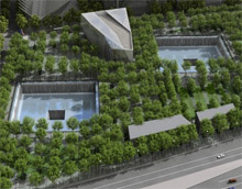 A digitally-created preview image of the upcoming 9/11 memorial site. Americans across the country will volunteer services to honor the victims of the tragedy