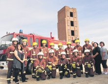 The London Fire Brigade has run a course for young people with autism. Pictured: course providers and participants.