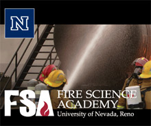 The University of Nevada, Reno Fire Science Academy offers standard-compliant wildland firefighting classes