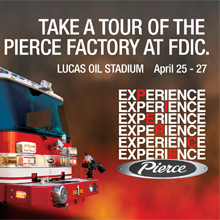 As part of the company's 100th Anniversary celebration, Pierce recreated its factory experience and renowned Blue Floor