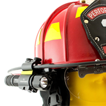 The prime benefit of the SideSlide C-Clamp is that it allows firefighters, rescue personnel and industrial professionals to use the light as a handheld flashlight and side mounted helmet light