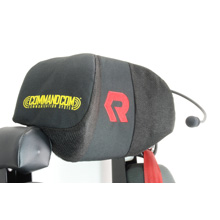 CommandCom is an advanced Setcom microphone and speaker system that is fully integrated into an H.O. Bostrom headrest
