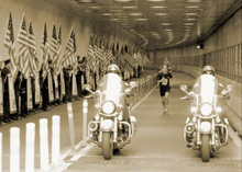 The race pays homage to 'Firefighter Siller of Squad 1' who ran through the tunnel on September 11, 2001 to respond to the World Trade Center attack