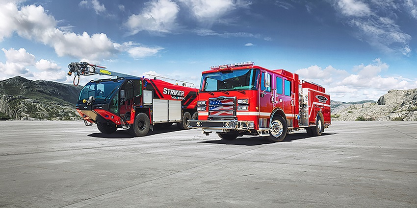 Pierce Manufacturing and Oshkosh Airport Products have introduced the Volterra™ platform of electric vehicles for the fire and emergency market