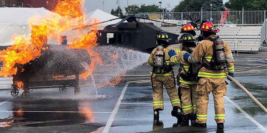 FDIC International's Innovation Hub focused on new technologies coming to the fire service, featured in a presentation theater on the show floor.