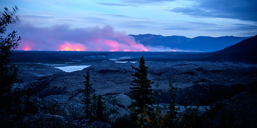 Arctic fires are not only the result of dry vegetation; in some cases, the underlying peat has caught fire