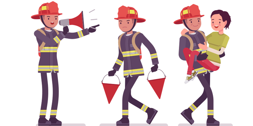 They need people who WANT to be firefighters and medics