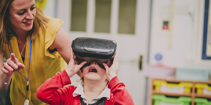Students retain 90% of information when using immersive technology such as VR