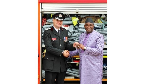 Avon Fire & Rescue Delivers Three Fire Engines And Fire Safety Equipment To Gambian Fire Service