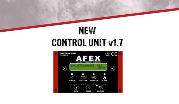 AFEX Enhances Control Unit V1.7 With Additional Features