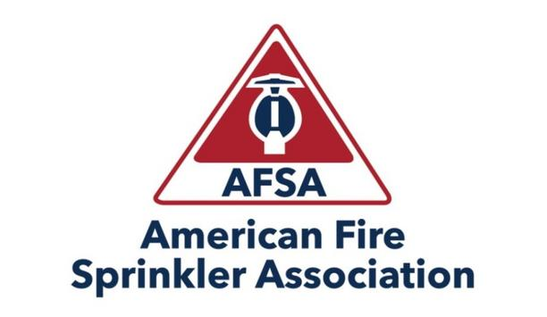 American Fire Sprinkler Association Presents Fire Sprinkler Advocate Of The Year Award To Brian Geraci