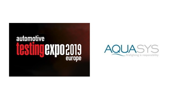 AQUASYS To Showcase High-Pressure Water Mist System At Automatic Testing Expo 2019