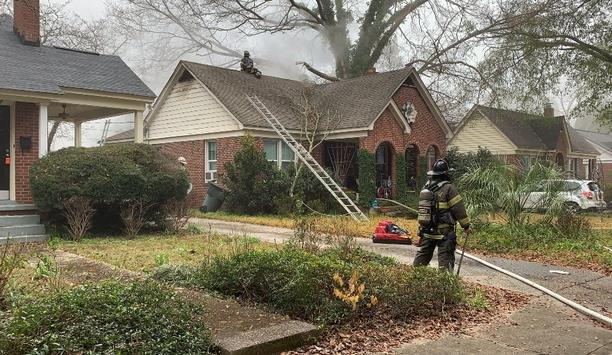 Firefighters Respond To House Fire Caused By Plane Crash