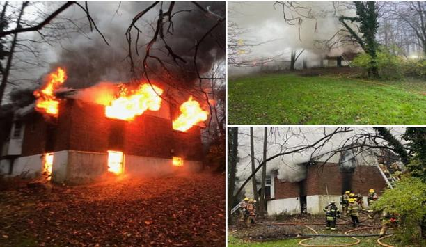 Branchville Fire Department's Company 11 Responds To House Fire In Laurel