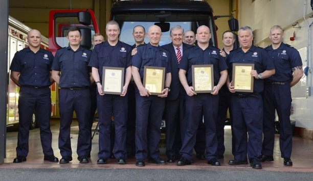Blue Watch Firefighter Crews And Darren Fenton Receive Tyne And Wear Fire Authority And CFO's Commendations