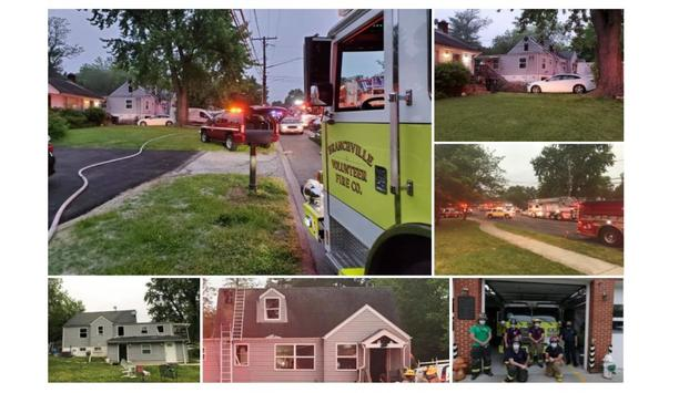 Branchville Engine 11 Operates On Beltsville House Fire