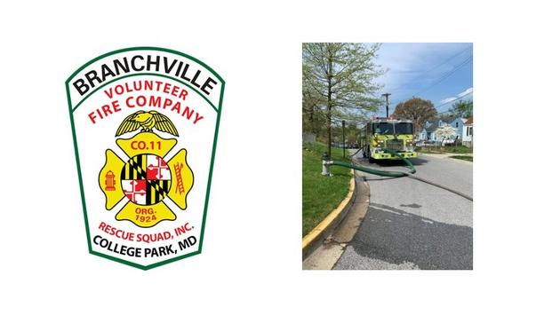 Branchville Volunteer Fire Company's E811B Responds To A Working Fire In Hyattsville