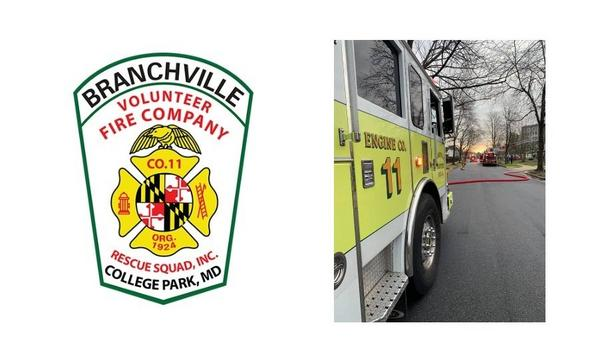 Branchville Volunteer Fire Company's E811B Gets Alerted For A Structure Fire On The Navahoe Street