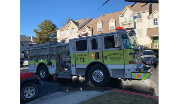 Branchville Volunteer Fire Company's E811 Pumper Vehicle Responds To Structural Fire Incident In Laurel, Maryland