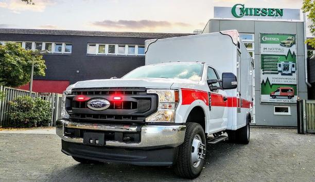 C. Miesen GmbH & Co. KG Delivers 13 New Rescue Ambulance Box Bodies On Ford F350 For Saudi Arabia