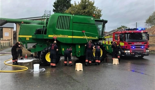 Cambridgeshire Firefighters Raise Donations From Car Wash Events As Part Of The Car Wash League