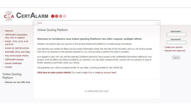 CertAlarm Launches Online Quoting Platform To Test And Certify Fire And Security Products