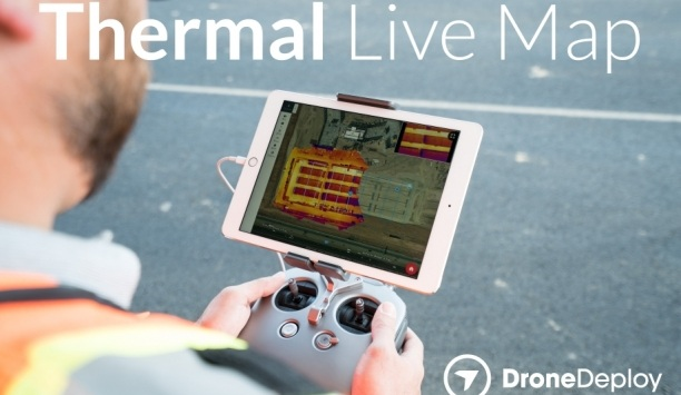 DroneDeploy's Thermal Live Map Provides Real-time Thermal Mapping Technology For Commercial Drones