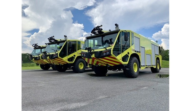 E-ONE Delivers Nine TITAN 4X4 Aircraft Rescue And Firefighting Vehicles To Peru's CORPAC S.A.