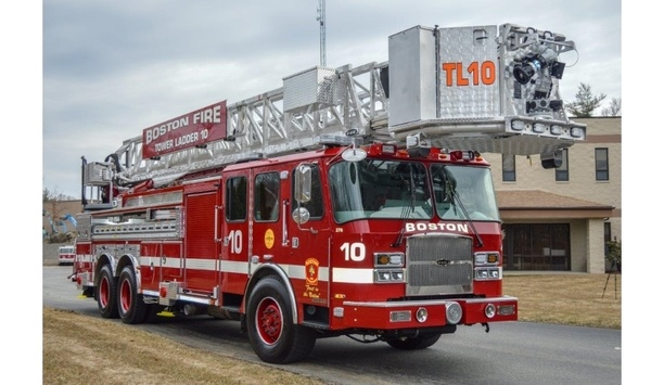 E-One Delivers A 95-Platform Truck To Boston Fire Department