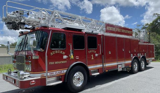 E-ONE Delivers HR 100 Ladder Truck To Auburn Fire Department In New York