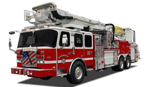 E-ONE Delivers First Bronto F135RLX Aerial Platform To Manchester Fire Department In New Hampshire, USA