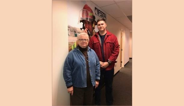 OSU Fire Protection Student And FPP' Student Smoke Alarm Installer Installs Smoke Alarms At Guthrie Residential Home