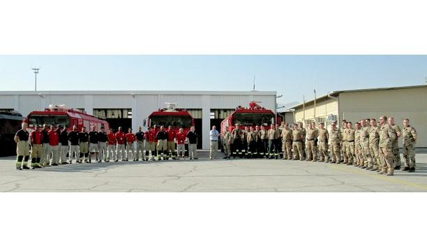 G3 Systems Hand Over Their Fire Protection Service To DEU Air Operations Group Firefighters At MeS Airbase