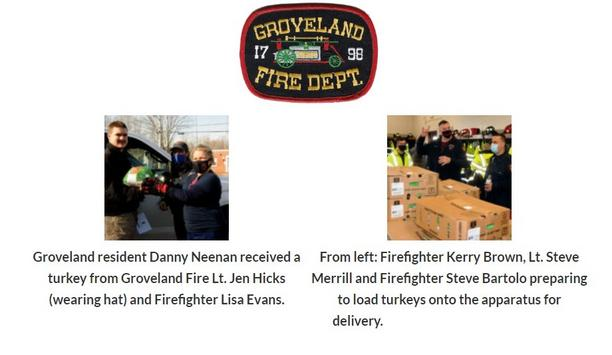 Groveland Firefighters Deliver Turkeys To Residents In Lieu Of Annual Turkey Night