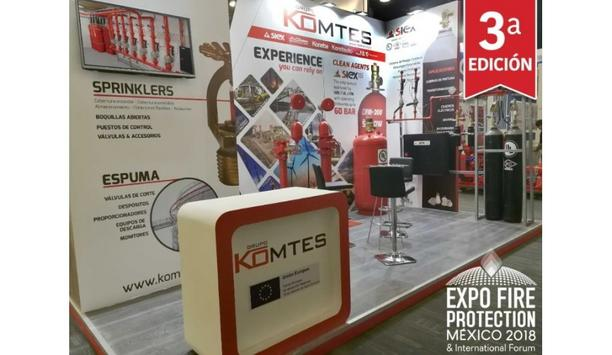 Grupo Komtes Exhibits SIEX Kitchen Protection Systems And Valves From AG Sprinkler At EXPO FIRE PROTECTION MEXICO 2018