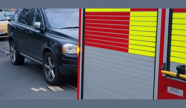 Kent Fire And Rescue Service Firefighters Urge Drivers To Not Park Vehicles Near Fire Hydrants