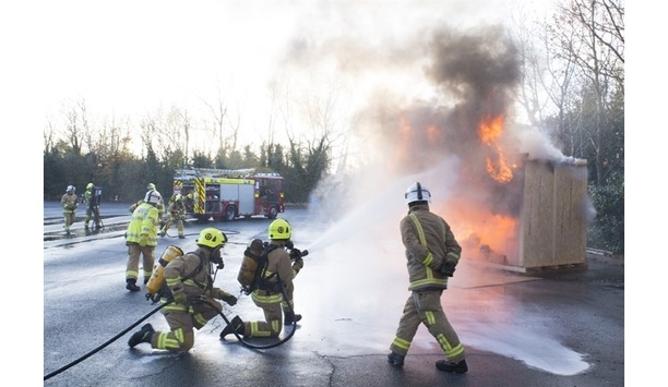 Kent Fire And Rescue Service's New Firefighter Recruits Respond To Fire And Emergency Rescue Calls