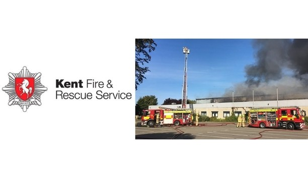 KFRS Firefighters Continue To Tackle Blaze At Margate Industrial Unit In Westwood