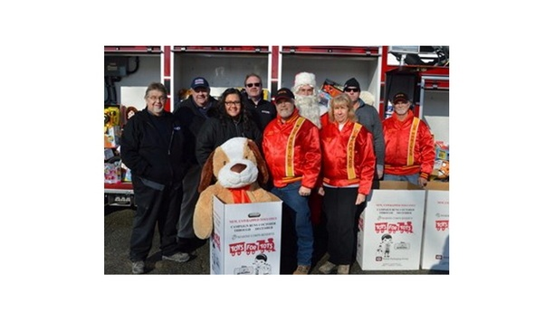 KME Fire Apparatus Deliver To Toys For Tots Drive Conducted By The U.S. Marine Corps Reserve