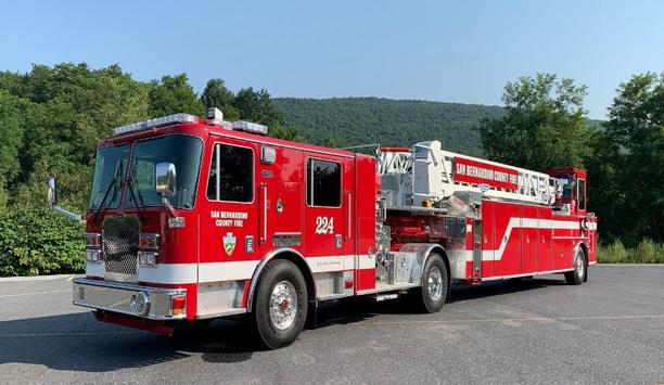 KME® Delivers 101' Tractor-Drawn AerialCat™ To San Bernardino County Fire Department