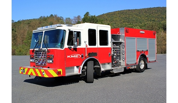 KME Fire Launches The Hendrickson STEERTEK NXT Front Axle And Suspension System On Custom Pumper And Tankers