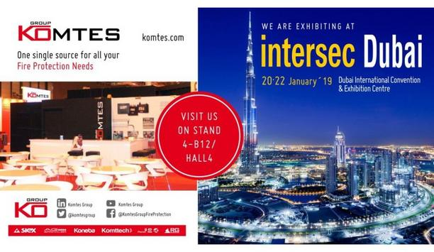 Komtes To Participate And Showcase Their High Pressure Water Mist Systems At Intersec Dubai 2019